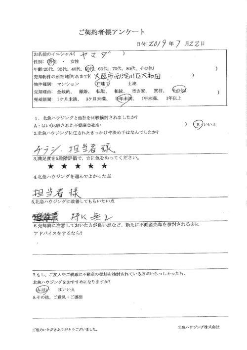 大阪市西淀川区大和田戸建のアンケート画像