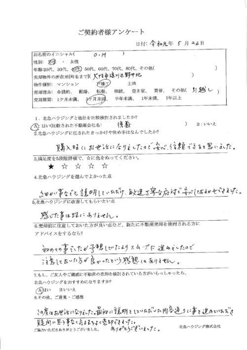 大阪市淀川区野中北戸建のアンケート画像